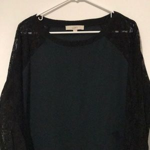 Loft Blouse with Lace Sleeves